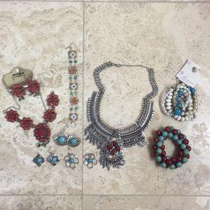 Southwest Inspired Costume Jewelry Turquoise Style